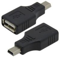 Adaptor miniUSB tata la USB 2.0 mama, Active, compatibil cu dispozitive cu port mini USB 5 pini si functie OTG, inclusiv casa de marcat Datecs
