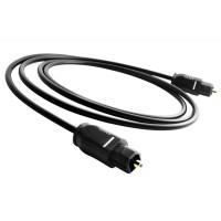 Cablu audio Optic Digital Toslink Tata Active, 5m, conectori auriti, negru