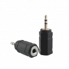 Mufa Adaptor audio Jack 3.5mm Mama la 2.5mm Tata, Active, calitate deosebita, negru