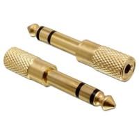Mufa Adaptor audio Jack 3.5mm Mama la 6.35mm Tata, 3 pini, Stereo, Active