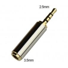 Mufa Adaptor audio 4pin Jack 3.5mm Mama la 2.5mm Tata, Active, calitate deosebita, contacte aurite, aliaj