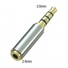 Jack Adapter 4pin 2.5mm Femele to 3.5mm male, Active, high quality, golden contacts, alloy