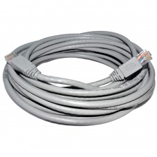 Network cable DeTech, 30M, CAT 5e UTP, gray, pin connections 2 x RJ45