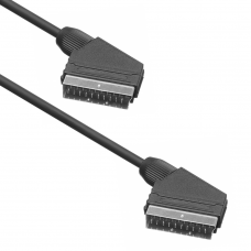 Male Scart Cable, Active, 1.2m