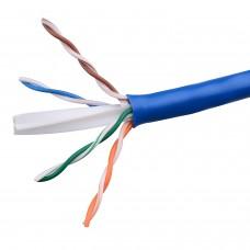 Cablu retea UTP cat 6e, ACTIVE, la metru, cupru 0.4mm, albastru