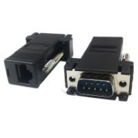 Extensie prelungire Cablu Serial 9 pin, RS 232, prin retea rj45, Active, convertor serial db9 pe distante mari