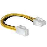 Cablu Active, adaptor alimentare CPU sursa ATX 4 pini tata la 8 pini mama EPS, prelungitor/ extensie pentru placa baza alimentare procesor, 20cm