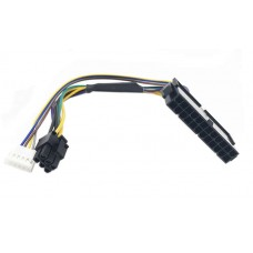 Cablu adaptor sursa alimentare de la ATX 24 pin la 2 x 6 pin, Active 18AWG, 30 CM, compatibil HP 8100 8200 8300 800G1 Elite