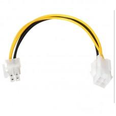 Cablu Active, Extensie prelungire alimentare CPU sursa ATX 4 pini mama la 4 pini tata, prelungitor pentru placa baza alimentare procesor, 20cm