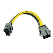 Cablu Active, adaptor alimentare placa video pci-e 6 pini tata la 8 pini mama, extensie pentru sursa, calitate deosebita, 20cm
