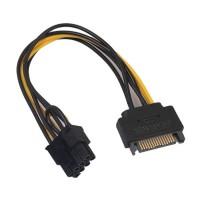 Adaptor alimentare placa video pci-e 8 pini (6+2), de la 1 x sata, Active, 20cm