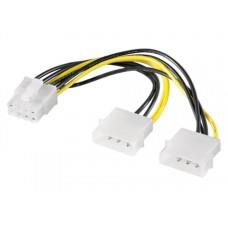 Cablu adaptor alimentare placa video pci-e 8 pini de la molex, molex la pcie 8pini