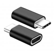 Adaptor mufa incarcare Micro usb la USB 3.1 Type-C, Active, alimentare microUSB mama - Type C tata, incarcator telefon, negru