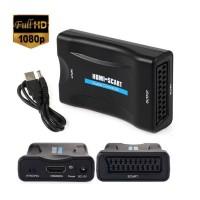 Adaptor HDMI la Scart, Active, Full HD, convertor audio video digital la analog, alimentare USB 5V, compatibil laptop pc tv dvd video