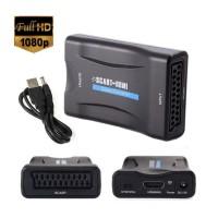 Adaptor Scart la HDMI, Active, Full HD, convertor audio video analog la digital, alimentare USB 5V