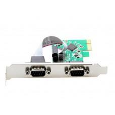 Placa PCI-Express 1.0 adaptor la 2 x Port Serial 9 pin RS232, pci-e la 9pin rs 232