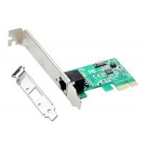 Placa Retea Gigabit Ethernet, Active, internet 10/100/1000M, PCI-e, 1Gb, chip rtl8168e, low profile bracket inclus