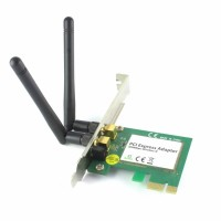 Placa Retea Wireless interna PCI-E, 300Mbps, Active, 2 antene detasabile, wifi