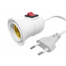 Dulie pe cablu pentru bec E27, Active, fir 2.8m , curent 250V/3A, cu stecher si intrerupator