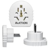 Adaptor universal priza AU US UK CN la EU, versiune SLIM, 16A, pentru stecher Australia, USA, Anglia, China la Europa, alb