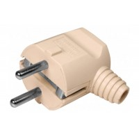 Plug male 90 degree, grounded, 250V / 10A / 16A current, 3 wires