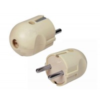 Plug male Active, with grounding, 250V / 10A / 16A current, 3 wires
