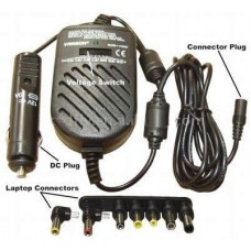 Universal notebook charger Active, for CAR 12V,8 connectors included, Adjustable voltage 12, 15, 16, 18, 19, 20, 22, 24 V