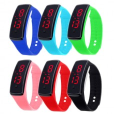 Silicone LED Sport watch Active Fashion, digital, unisex, waterproof, adjustable bracelet, various colors