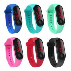 Silicone Sports watch LED Active Sports various color digital, unisex: woman, man, children