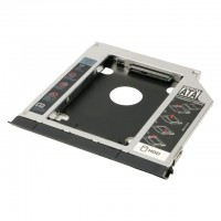 Rack hard disk Caddy sata pentru laptop, Active, grosime 9.5mm, adaptor hdd/ssd s-ata 2.5""