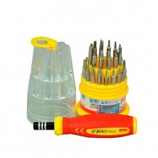 Set 31 in 1 kit Magnetic screwdriver, Jackly, precision heads