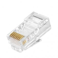 Set 10 network plug Active, RJ45, UTP, 8-pin gold-plated contacts, cat.5, individual packaging, high quality