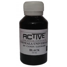 Cerneala refill Universala ACTIVE, 100 ml, Black / Negru, compatibila cu cartuse inkjet HP, Lexmark, Canon