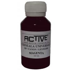 Cerneala refill Universala ACTIVE, 100 ml, Magenta / Rosu, compatibila cu cartuse inkjet HP, Lexmark, Canon