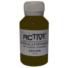 Universal Refill Ink  ACTIVE, 100 ml, YELLOW , compatible with HP, Lexmark and Canon ink cartridge