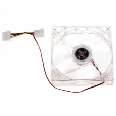 Ventilator Carcasa / Sursa WD 12V, 120mm, 2 fire, mufa 4 pin, 1200RPM, silent, iluminat, transparent