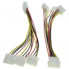 Molex (ide) cable multiplier , 1 femele to 3 male