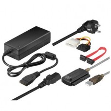 USB 2.0 Adapter / Converter to Sata and IDE, ACTIVE, for make external hard disk or cd / dvd, + power supply 2A