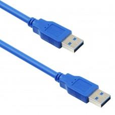 Cablu date USB 3.0 tata-tata, 1.5m, albastru