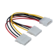 Molex (ide) cable multiplier , 1 femele to 2 male