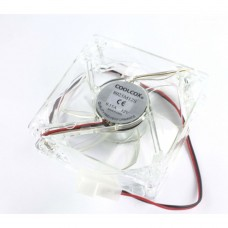 Fan for PC Cases / Power Supply Vipben 12V, 80mm, 2-wire, 4-pin plug, 2500RPM, silent, illuminated, transparent