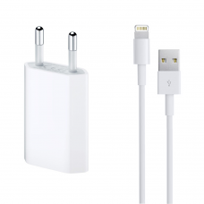 Charger and Data Cable for iPhone 5/6/7/SE, ACTIVE, 5V, 1A, 1000mAh