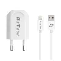 Incarcator Detech compatibil Telefoane, universal telefon, Iesire USB, Cablu Micro USB 1m, 5V, 1A, 1000mAh